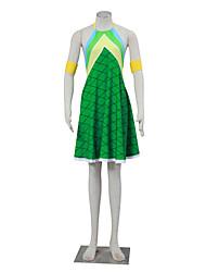 Inspiré par Fairy Tail Winry Manga Costumes de Cosplay Costumes Cosplay Pied-de-poule Sans Manches Robe Pour Féminin