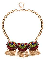 Ожерелье Ожерелья с подвесками Бижутерия Повседневные Кисточки Сплав Золотой 1шт Подарок