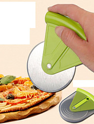 Round Pizza Pie is Cut Stainless Steel Knife Random Color