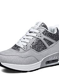 Da donna-Sneakers-Sportivo-Ballerine-Piatto-Tulle-Nero / Grigio