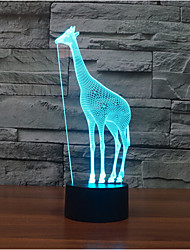 Giraffe Touch Dimming 3D LED Night Light 7Colorful Decoration Atmosphere Lamp Novelty Lighting Christmas Light