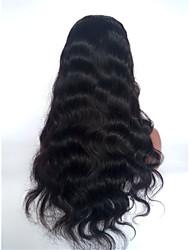 onda longa corpo 10-28 polegadas fio de cabelo humano de 130% peruca virgem brasileira dianteira do laço densidade, com cabelo do bebê