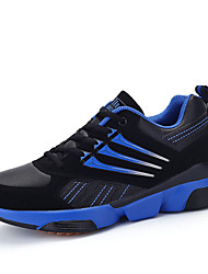 Men's Sneakers Spring / Fall Comfort Tulle Casual Flat Heel Black / Blue / Gray / Navy Walking