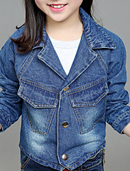 Girl's Casual/Daily Solid Jeans,Cotton Winter / Spring / Fall Blue
