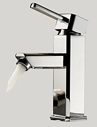 Contemporain Set de centre Mitigeur un trou in Chromé Robinet lavabo