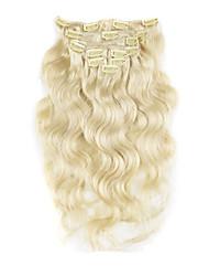 10inch-30inch 120g Clip in brasilianische Haarverlängerungen Farbe (# 1 # 1b # 613) Körperwelle Clip-In Extensions