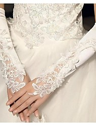 Elbow Length Fingerless Glove Cotton Bridal Gloves Spring / Summer / Fall / Winter lace