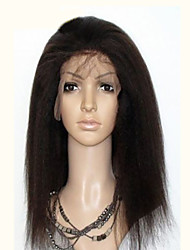 Unprocessed Brazilian Kinky Straight Full Lace Wig 120%-130% Density Glueless Full Lace Human Hair Wigs Free Shipping