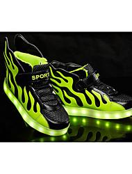 Para Meninos-Tênis-Light Up Shoes-Rasteiro-Preto Vermelho Branco-Courino-Ar-Livre Casual Festas & Noite