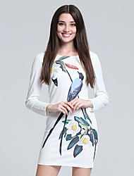 Women's Korean Long Sleeve Cotton Mini Dress