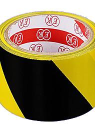 bande d'avertissement pvc ruban noir et jaune marquage de couleur de bande de bande plancher de zèbre peut être personnalisé