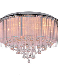 20 Flush Mount ,  Modern/Contemporary Electroplated Feature for Crystal Metal Living Room Bedroom Dining Room