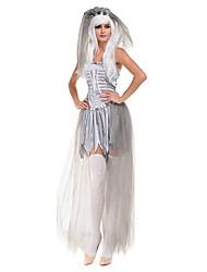Costumi Cosplay / Vestito da Serata Elegante Mago/Strega / Fantasma / Costumi da vampiro Feste/vacanze Costumi Halloween Grigio Vintage