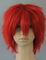 Anime Love Live Hoshizora Rin Red Blue Green 35CM Short Straight Cosplay Wig