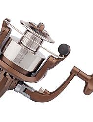 Metal & Plastic  Fishing Spinning Reels 6 Ball Bearings  Exchangable Handle-NF4000