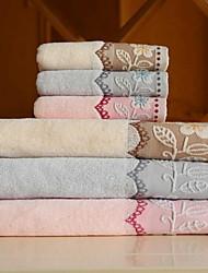 Ensemble de serviette de bain-Fil teint- en100% Coton-34*75cm ; 70*140cm