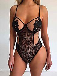 Women Lace Lingerie Nightwear,Sexy Lace Jacquard-Thin Lace Black