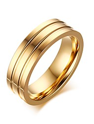 Unisex Titanium Steel Ring Simple Noble Party / Daily / Casual 1pc Statement Rings Band Rings