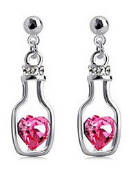 Bottle Style Drop Earring Jewelry 1 pair Fashionable Alloy Gold / Rose / Silver Daily / Casual
