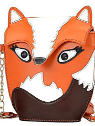 Women PU Casual  Owl Fox Cartoon Pattern Sequins Shopping Shoulder Bag