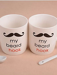 barba paio di set di tazzine da caffè con i cucchiai tazza di acqua di ceramica