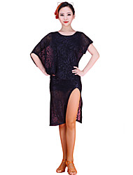 Latin Dance Dresses Women's Training Chinlon / Lace Lace 1 Piece