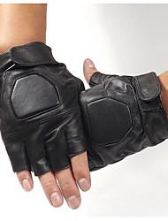luvas de fitness meia luvas de couro masculinos desportivas ao ar livre da motocicleta da bicicleta luvas metade do dedo