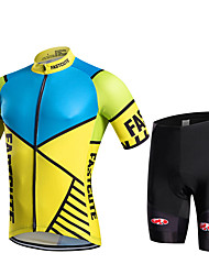Fastcute® Cycling Jersey with Shorts Women's / Men's / Kid's / Unisex Short Sleeve BikeBreathable / Quick Dry / Moisture Permeability /