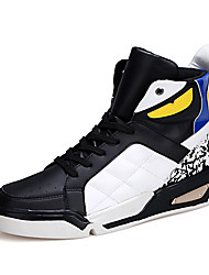Men's Fashion Shoes Casual/Party & Evening/Youth Breathable Microfibre Middle-top Board Punk Shoe Black/White/Red