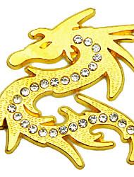etiqueta do carro, a personalidade com metal diamante contra o dragão do metal auspicioso adesivos