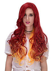 Red and yellow long hair wig.WIG LOLITA, Halloween Wig, color wig, fashion wig, natural wig, COSPLAY wig.