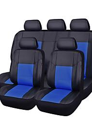 11pcs pu couro preto com bule auto carro cobre um conjunto sintético tampas de assento completos