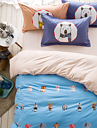 Animals brief style 4piece bedding sets print duvet cover Sets 100% Cotton Bedding Set Queen Size