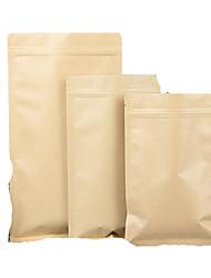 алюминиевая плоская крафт Ziplock Ziplock еды мешки для упаковки чая мешки на заказ фабрики сразу пакет из десяти 10 * 15см