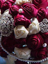 Fleurs de mariage Rond Roses Bouquets Mariage Taffetas 50cm
