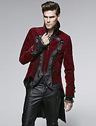 Manteau Pour des hommes Couleur Pleine Manches longues Rouge