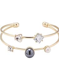 Bracelet Manchettes Bracelets Alliage Forme d'Etoile Mode Quotidien Bijoux Cadeau Doré,1pc