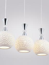 3 Lights Max 60W Pendant Light Modern/Contemporary / Globe for Ceramic Shade Living Room / Bedroom / Dining Room / Kitchen /