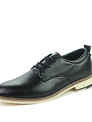 Autumn Men's Genuine Leather Lace-up Dress Shoes Matching Suits
