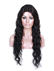 EVAWIGS 26'' Body Wave Brazilian Remy Hair Full Lace Wig Natural Black
