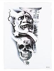 1pc Skull Flower Door Decal Waterproof Temporary for Women Body Hand Art Tattoo Painting Sticker HB-166