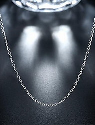 Fine 925 Silver Chain Necklace for DIY Necklace Jewelry (18inch)