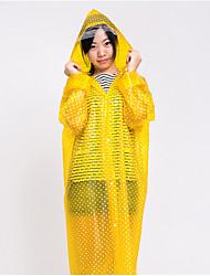 Dot Pattern Translucent Multicolor Raincoat
