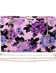 L.west Women Elegant High-grade Floral Print Evening Bag