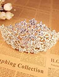 Women's Alloy Headpiece-Wedding / Special Occasion / Casual Tiaras /  Hair Tool 1 Piece Silver Irregular free size