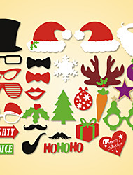 28 Pcs Party Photo Booth Props Holiday Decorations Party MasksCool For Christmas