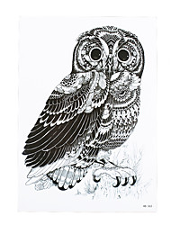 1pc Waterproof Fake Temporary Tattoo Sticker Black DIY Cute Owl Body Arm Art Design Tattoo for Women Men HB-363
