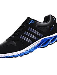 Men's Sneakers Spring / Fall Comfort Tulle Athletic Flat Heel  Black / Blue / Red Walking / Running