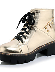 Women's Boots Fall / Winter Fashion Boots / Combat Boots / Office & Career / Dress / Casual Platform Buckle / Lace-up