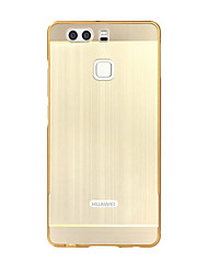 For Huawei series Case Luxury Gold Plating Armor Aluminum Metal Frame + Mirror Acrylic Case Back Cover for Huawei P9 Lite P8 Lite P7 Honor 6 Mate 8
